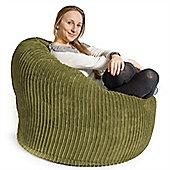 Lounge Pug® Mini Mammoth Bean Bag Chair - Cord Lime Green