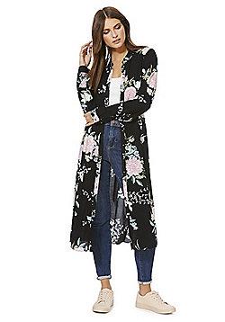 F&F Floral Midi Shirt Dress - Multi