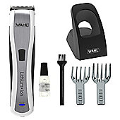 Wahl Li-ion WM8481- 801 Mens Rechargeable Hair, Face and Body Grooming Clippers - Silver