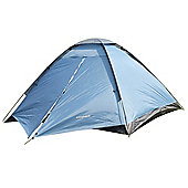 North Gear Camping Scott Waterproof 3 Man Dome Tent Blue