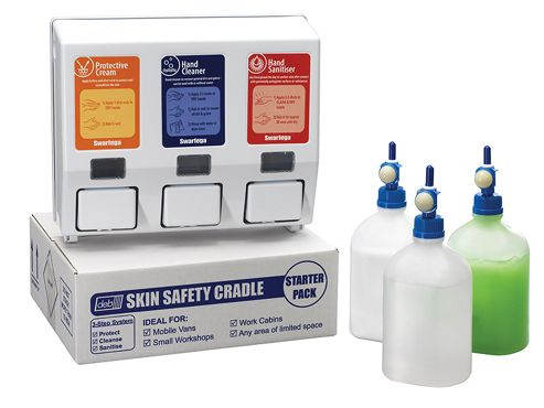Swarfega Skin Safety Cradle Hand Cleanser Starter Kit
