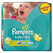 Pampers Baby Dry Size 6 Monthly Pack - 124 Nappies