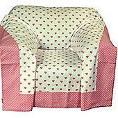 Homescapes Cotton Pink Heart Decorative Sofa Throw