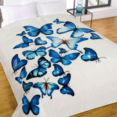 Dreamscene Large Butterfly Animal Faux Fur Mink Warm Sofa Bed Blanket Throw Over 150 x 200
