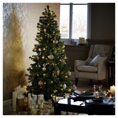6ft Pre Lit Evergreen Christmas Tree 150 Warm White Leds