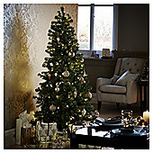 6ft Pre-lit Evergreen Christmas Tree (150 warm white LEDs)