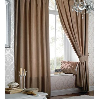 catherine lansfield faux silk curtains 90x108 229x274cm latte
