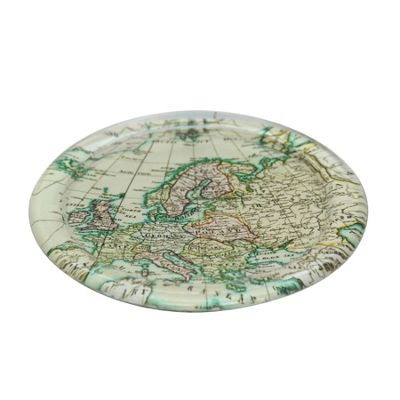 World Map Glass Coaster