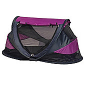 NSAuk Deluxe Pop Up Travel Cot Large Purple 0-4 Years