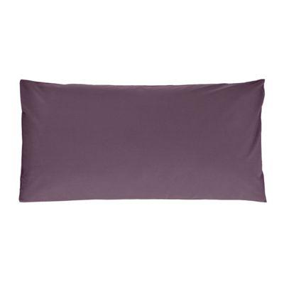 Homescapes Grape Purple Plain Housewife Pillow Case 100% Egyptian Cotton Pillow Cover 200 TC, King Size