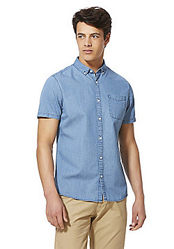 F&F Indigo Yarn Chambray Shirt - Blue