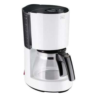 Melitta 1002-08-WHITE Filter Coffee Machine with 850W and 1250ml Tank Capacity in White