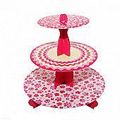 Mason Cash Stylish Home Made 3 Tier Cupcake Stand, Easy to Store (Multi)