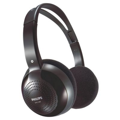 Philips SHC1300 Wireless Headphones - Black