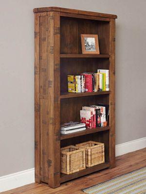 Baumhaus Heyford CRS01A Rough Sawn Oak Large Bookcase