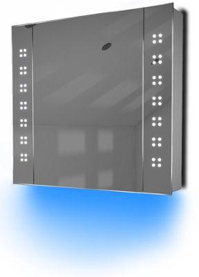 Ambient Audio Bathroom Cabinet With Bluetooth, Shaver Socket & Sensor K19Baud