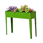 Outsunny Flower Raised Bed Vegetable Planter Freestanding (Green)