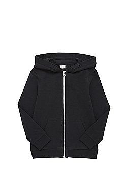 F&F Black Zip-Through Hoodie - Black
