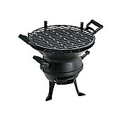 Landmann Cast Iron Barrel Barbecue, Black