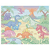 Baby Dino World Wallpaper Mural 8ft x 10ft