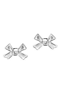 Jo For Girls Silver Bow Stud Earrings
