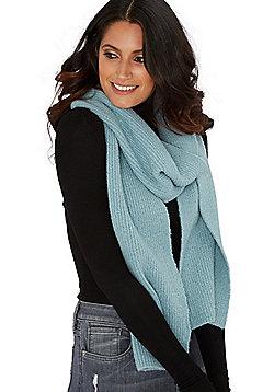 F&F Fine Rib Knit Scarf - Blue