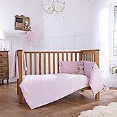 Clair De Lune Dimple 3 Piece Bedding Set - Pink