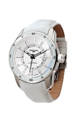 Jorg Gray Men' s Watch JG3700-13 Leather Strap White Dial