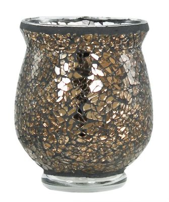 Copper Sparkle Mosaic Tealight Holder