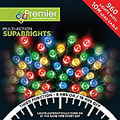 Premier 960 Multi Action Supabrights LED Lights with Timer - Multi-Colour