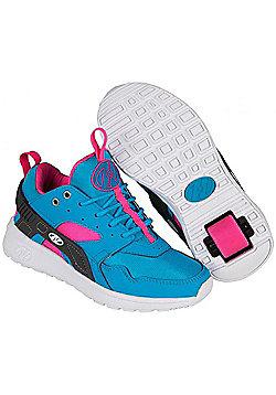 Heelys Force Aqua/Grey/Pink Heely Shoe - Blue
