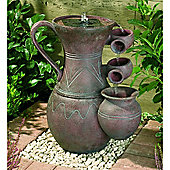 Solar Pitcher with Cascading Fountain