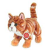 Teddy Hermann 20cm Red Striped Cat Plush Soft Toy