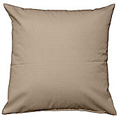 Homescapes Blackout Scatter Cushion in Linen Look, Latte - 45 x 45 cm