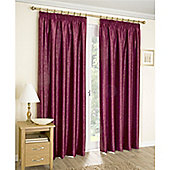 Enhanced Living Apollo Lined Pencil Pleat Curtains - Red