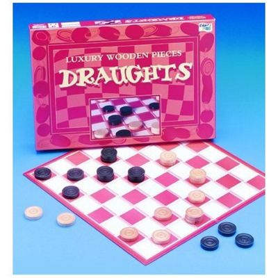 John Adams Luxury Solid Wooden Draughts