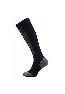 SealSkinz MTB Mid Knee Socks - Black & Grey