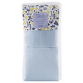 Tesco Cot Bed 2 Fitted Sheets, Blue