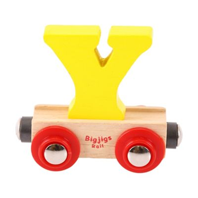 Bigjigs Rail Rail Name Letter Y (Yellow)