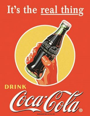 Coca-Cola Coke Real Thing Tin Sign