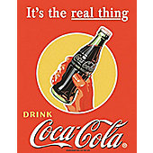 Coca-Cola Coke Real Thing Tin Sign