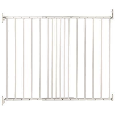 Safetots Extending Metal Pet Gate White 62.5cm - 106.8cm
