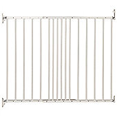 Safetots Extending Metal Pet Gate White 62.5cm - 106.8cm