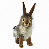 Hansa 23cm Black Tailed Rabbit Plush Soft Toy