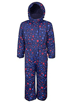 Mountain Warehouse Cloud Printed Kids All in One Snowsuit - Blue