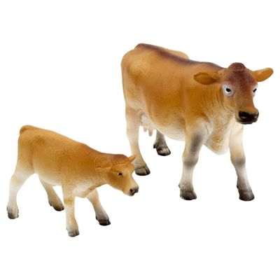 Realistic Jersey Cow and Calf Figurine Toys by Animal Planet