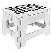 Kikkerland Rhino Folding Footstool in White, Holds 135kg ZZ12-W