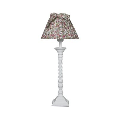 Pink Floral French Vintage Bow Table Lamp