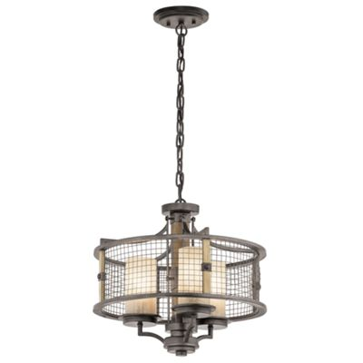 Anvil Iron 3lt Duo-Mount Chandelier - 3 x 100W E27