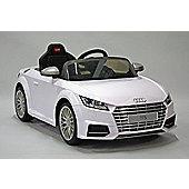 Kids Electric Car Audi TTS 12 Volt White Gloss